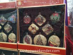 vintage inspired glass ornaments 8 pc set costco weekender