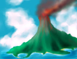 volcano mountain sketch by albundyland on deviantart
