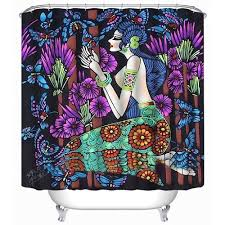 Colorful Fabric Shower Curtains Scocici Durable Colorful Mermaid Fabric Shower Curtain Stylish