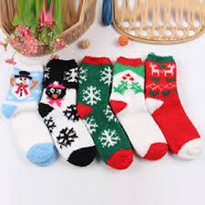 fuzzy christmas socks women gifts novelty christmas socks fuzzy soft warm crew