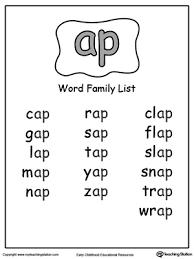 ug word family list myteachingstation com