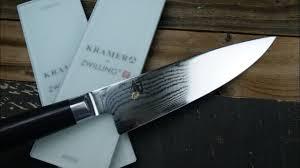 how to hand sharpen shun knife on bob kramer whetstone youtube