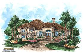 One Story Houses Interesting 1 One Level Mediterranean House Plans Tuscan Style One