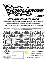 challenger 9300 manual door