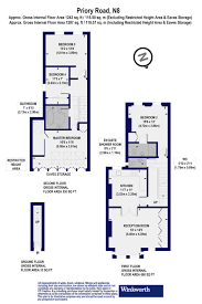 floor plan area calculator 4 bedroom property for sale in priory road london n8 850 000