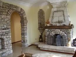 furniture ideas classic themed brick fireplace with grey stone