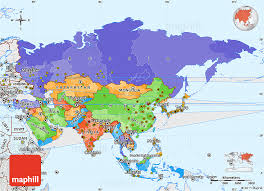 asia map with labels political simple map of asia single color outside borders and labels
