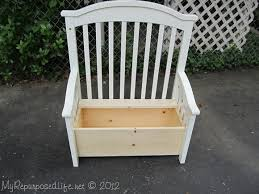 Build A Toy Box Bench by Upcycled Repurposed Crib Into Toy Box Bench Hometalk