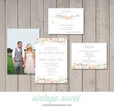 Wedding Invitations Information Vintage Floral Wedding Invitation Rsvp Information Card
