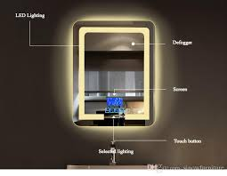bathroom vanity mirror with lights interior rectangle framed wall mirror with lights stunning led 44