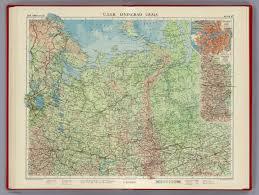 Ural Mountains On World Map by U S S R Leningrad Ural Plate 47 V Ii David Rumsey