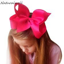 large hair bows naturalwell 6 inch hair bows for children hair clip