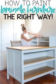 can i use chalk paint on laminate kitchen cabinets how to paint laminate furniture the right way