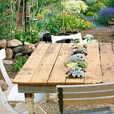 Plans For Wood Outdoor Table by Diy Pallets Of Wood 30 Plans And Projects Pallet Furniture Ideas