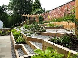 sloping garden ideas jb landscapes ltd