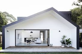 ikea flat pack house sydney bungalow extension features asymmetrical gable with oversized