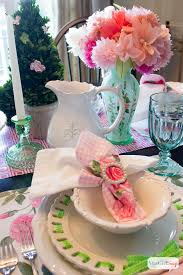 bridesmaid luncheon ideas table setting ideas pink green luncheon atta girl says