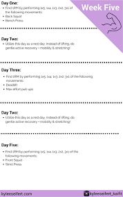 Bench Program 5 Week Strength Program Let U0027s Get Strong U2014 Kai Fit Online