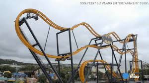 Six Flags Today Holy Dizzy Batman See The New Spin On Winged Coaster