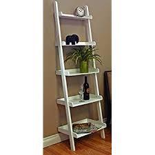 amazon com square furniture 72 inch ladder style shelf white