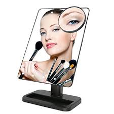 Movable Bathroom Mirrors by Amazon Com Bukm Tabletop Led Lighted Vanity Makeup Mirrors Touch