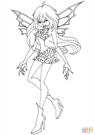 winx club coloring page funycoloring