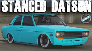 lowest car ever 1970 datsun 510 stance build forza 6