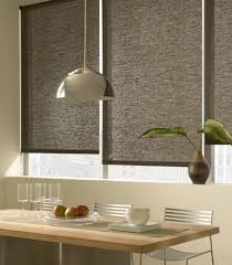 Kitchen Window Blinds And Shades - roller shades displaying the regular roll type shown in material