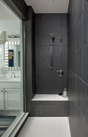 moderne badezimmer fliesen grau grau großer dusche fliesen dusche ideen glas wand moderne