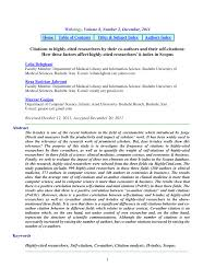 si e m itation citations to highly cited researchers by pdf available