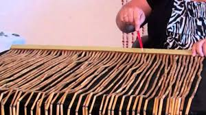 Pink Hanging Door Beads by How To Trim Width From Bamboo U0026 Wood Beaded Curtains Youtube