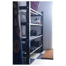tjusig shoe rack black ikea