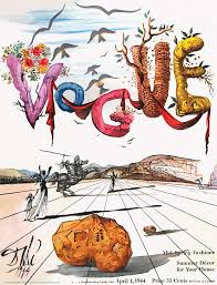 spring letters with a visage of dali by salvador dali