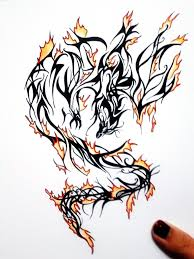 dragon with fire tattoo designs dragon with fire tattoo designs