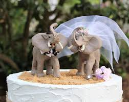 unique wedding cake toppers elephant wedding cake topper etsy