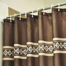 coffee patterned luxury shower curtains