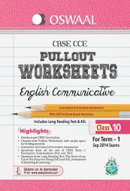 oswaal cbse cce pullout worksheets for term 1 class 10 english