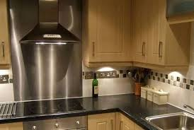 stainless kitchen backsplash stainless steel backsplash range linoleum flooring square