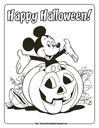 mickey mouse halloween coloring pages preschool