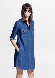 soft denim dress robe vestidos and denim shirt dresses
