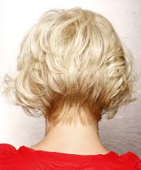vies of side and back of wavy bob hairstyles short wavy formal bob hairstyle with side swept bangs light