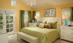 orange wall combined with cream floor interior design painting