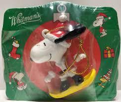 tas028022 vintage whitman s peanuts snoopy ornament