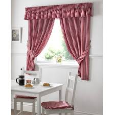 kitchen curtains design ideas red checkered kitchen curtains home design and pictures