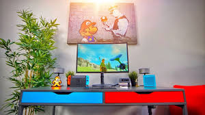 Desk Setup Diy Nintendo Switch Gaming Desk Setup Youtube