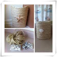 Small Bathroom Trash Can Beach Theme Bathroom Diy Trash Can And Brush Holder Diy