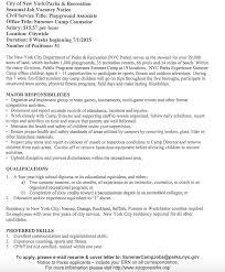 nyc parks u0026 recreation summer job opportunities