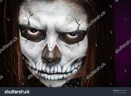 halloween woman mask young woman day dead mask skull stock photo 223949740 shutterstock