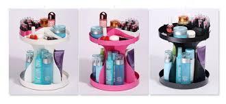 fashion rotating cosmetic box for skincare bathroom makeup storage