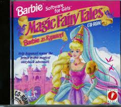 magic fairy tales barbie rapunzel cd rom game 1996 90 u0027s